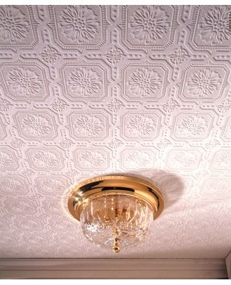 Textured Wallpaper...and it's paintable!  Square Wallpaper – Ceiling Wallpaper - Graham & Brown