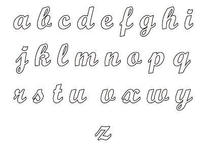 Blogg da Mirian: 4 Moldes do alfabeto completo para você pintar o nome que desejar | Felt Letters Templates