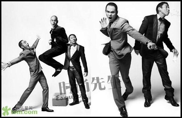 """Doze Niu (director) y Eddie Peng y Ethan Ruan (actores) de """"Love""""."""