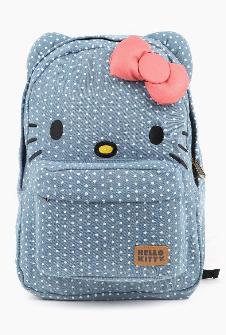 HK |❣| HELLO KITTY Loungefly Denim Dot Backpack