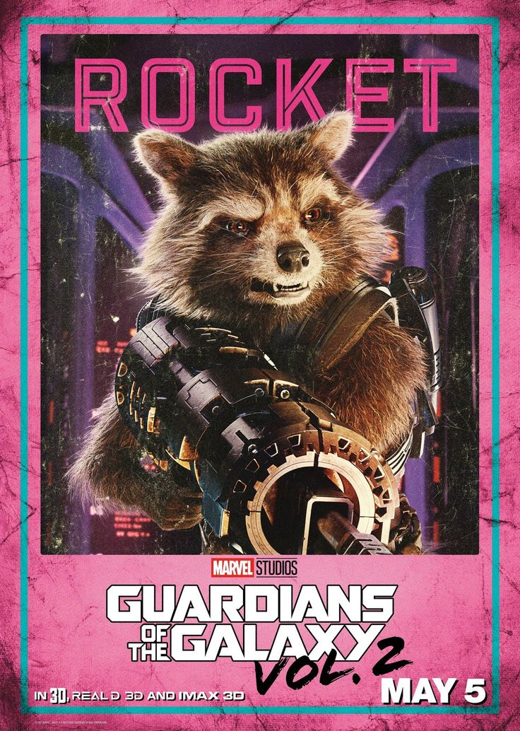 Rocket - Guardianes de la Galaxia Vol. 2 #Poster