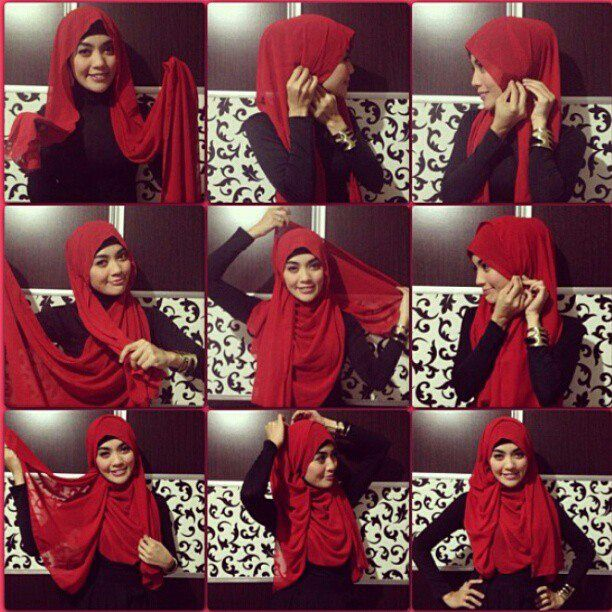 tutorial hijab# www.safaayr.tumblr.com