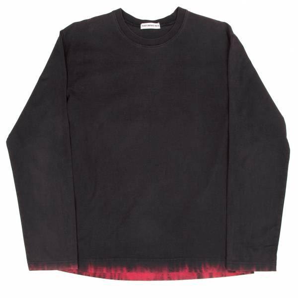 イッセイミヤケ メンISSEYMIYAKE MEN 裾染めデザイン長袖Tシャツ 紫茶L