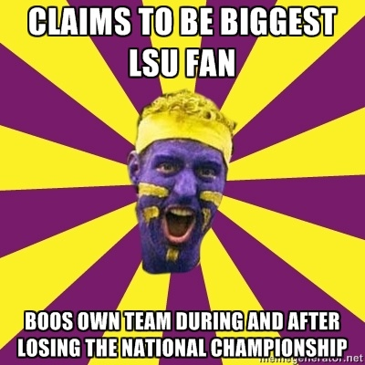 "#LSU Unfortunately, this is soooo true.  From someone who's been a season-ticket holder since the Dinardo years, most LSU ""fans"" suck."