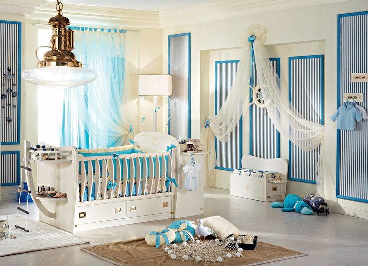 Детские комнаты в морском стиле: особенности, фото-1