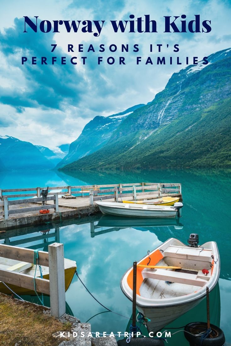 Norway is a magical land of mountains and fjords, glaciers and waterfalls, northern lights and colorful troll folklore. With a kid-friendly culture with places your whole crew will enjoy, this Scandinavian destination should be on your short list for future vacations. Here are 7 reasons to visit Norway with kids.-Kids Are A Trip