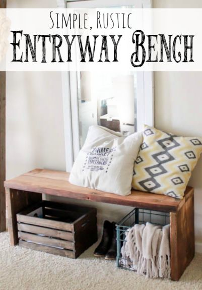 Foyer Bench Quotes : Best rustic entryway ideas on pinterest foyer table