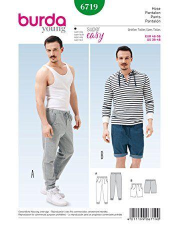 Bildergebnis für burda schnittmuster jogginghose herren