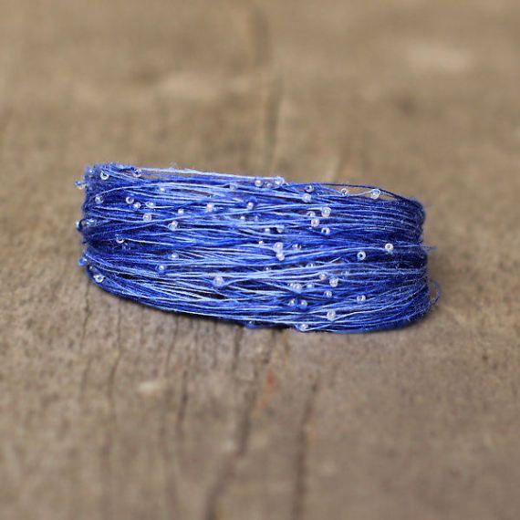 Blue Bracelet Multistrand Bracelet for Women Boho by Naryajewelry