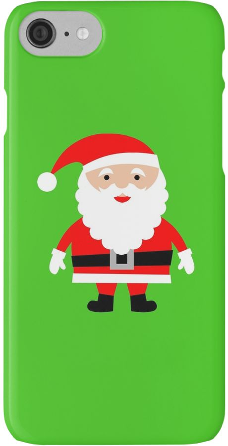 Cute Santa I Phone case. Do you love Christmas like i do? If so you will love this cute Santa I Phone case. This Cute Santa i phone case is sure to get you in the Christmas spirit. Or why not give this Cute Santa i phone case to somebody as a different gift?