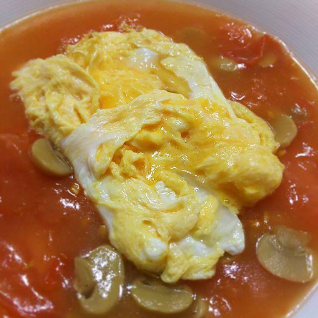 #中華のあて ~ #トマト卵炒め  清湯スープを足してとろみをつけたバージョンです これもアリ✨✨ #うち中華 #cooking #mycooking #chinesefood #中華
