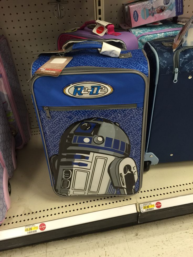R2D2 suitcase. At Target.
