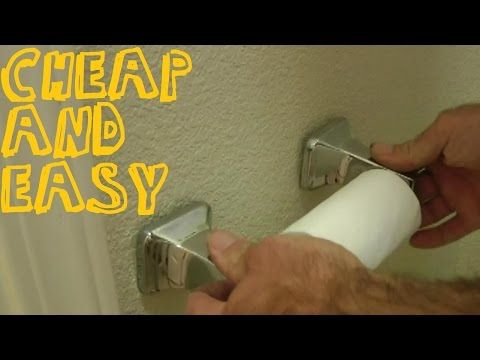How To Fix A Loose Toilet Paper Holder Or Towel Rack - YouTube