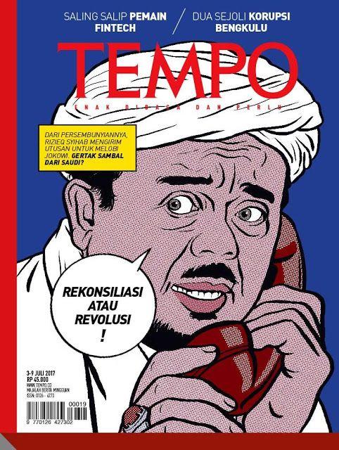 Sampul Majalah Tempo Serang Habib Rizieq Warganet: Tempe Enaknya Dibacem http://news.beritaislamterbaru.org/2017/07/sampul-majalah-tempo-serang-habib.html