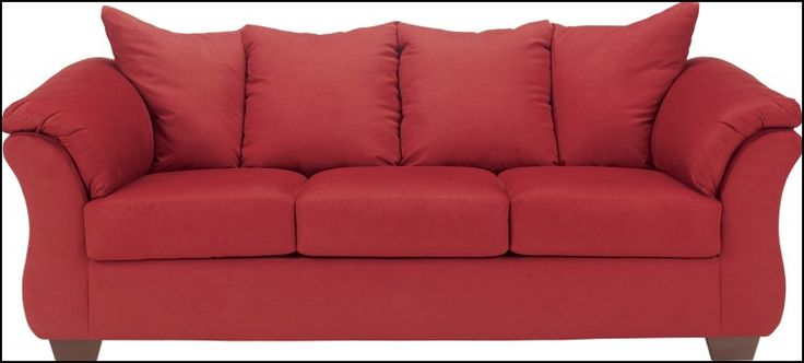 Ashley furniture red couch