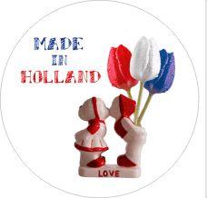 Sticker Made in Holland | 25mm www.hipenstipkaarten.nl