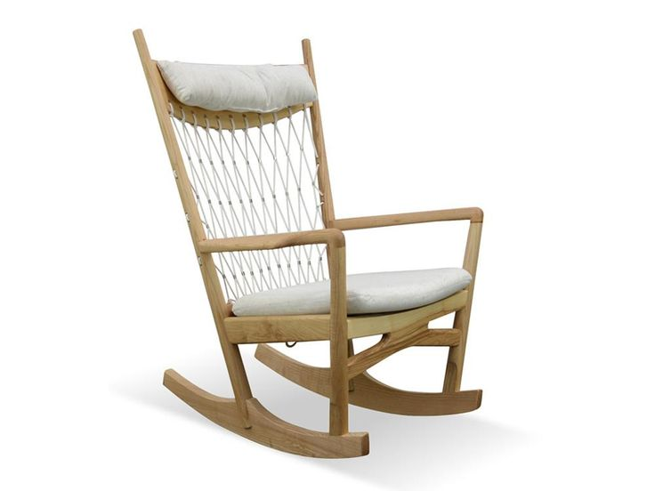 Ash Wood and Mesh Rocking Chair (Beige) - FREE SHIPPING AUSTRALIA WIDE