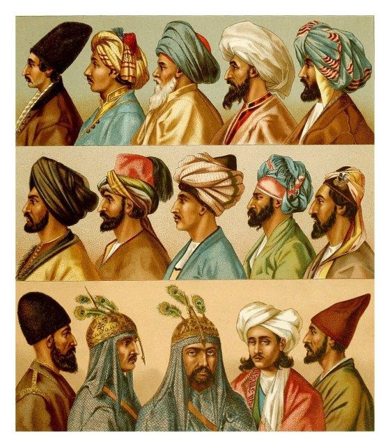 """This a really detailed painting of how people in ottoman empire used to dress. You can also see the differences between the wealthier ones, and the """"poors"""". They have really different headgears too!"""