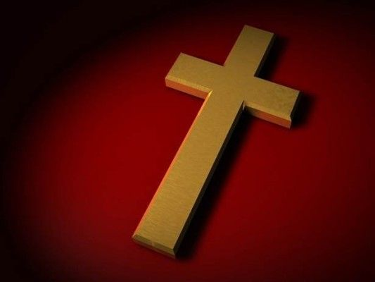 Golden Christian Cross Wallpapers with Red Backgrounds