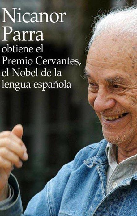 Nicanor Parra obtiene el Premio Cervantes (Diario El Mercurio, 02.12.11)