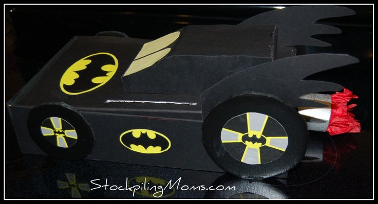How To Make Valentine Boxes For Boys. How To Make A Batman Valentine Exchange Box