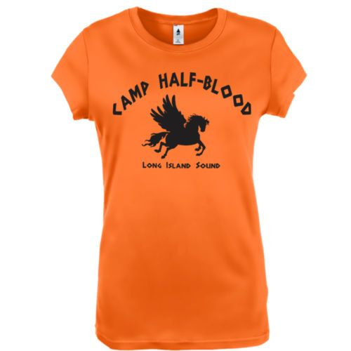 Camp Half Blood shirt. I got mine right now! I'm a child of Poseidon! (I changed it to Poseidon)