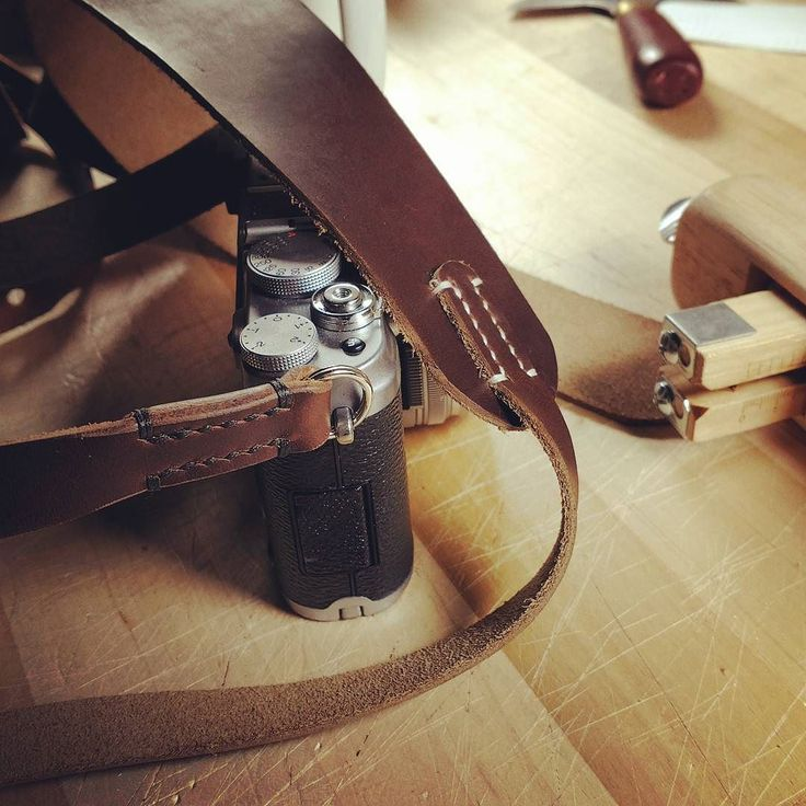 Quick prototype of one of the new stitched straps we will be offering.  In addition to two new types of stitched strap we will be offering a new economy leather strap - same great leather as our regular straps just less finishing to save cost. . #camerastrap #fuji #x100 #leica #nikon #canon #mcmurrayandblonde #home #leather #style #horween #chromexcel #EDC #carry #fieldnotes #belt #bridle #wallet #chicago #madeinusa #handmade #leathercraft #travel  #film #myfujifilm #menstyle #fashion #denim…