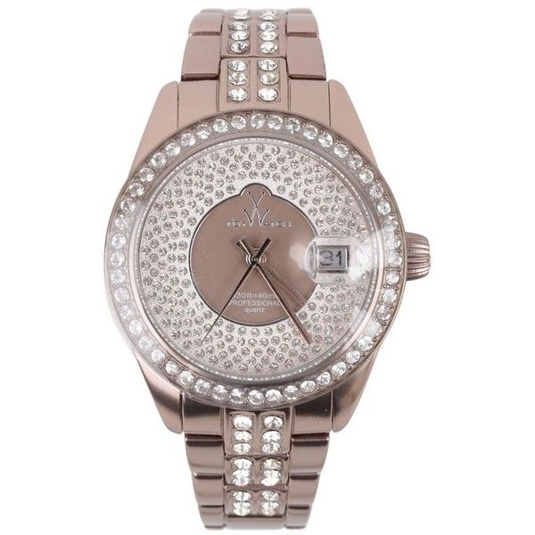 TOYWATCH Pewter And Swarovski Total Stones Watch ($330) ❤ liked on Polyvore featuring jewelry, watches, pewter, crown jewelry, toy watch watches, leather-strap watches, stone jewelry and buckle jewelry