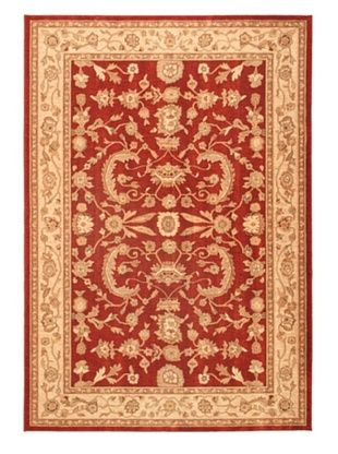 -22,767% OFF Lotus Garden Traditional Rug, Dark Red, 6' 7