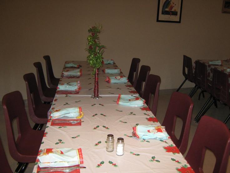 Tables were set