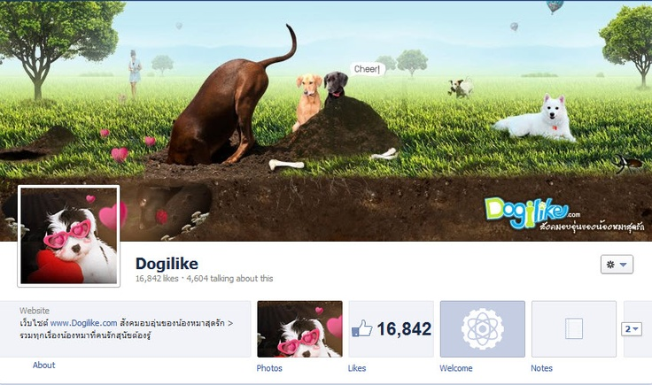 Another So Cute Facebook Cover Design (facebook.com/Dogilike)