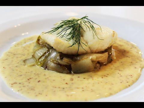 Recept 'Filet van griet met gekarameliseerd witloof en mosterdsaus' | njam!