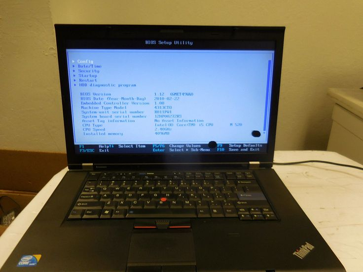 (Boots to BIOS) Lenovo Thinkpad T510 Intel core i5 2.40GHz 4GB RAM Laptop #3464