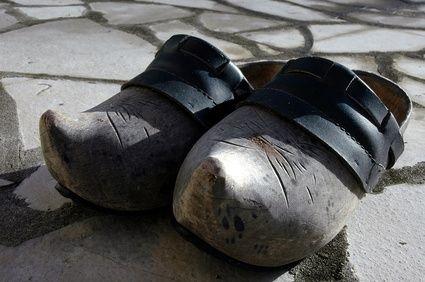 antique wooden shoes