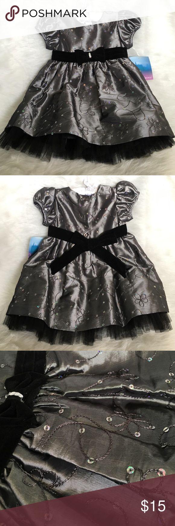 Special Occasion Dress - Grey/Silver Brand new - Special Occasion Dress - Grey/Silver with  iridescent sparkles La Princess Dresses Formal