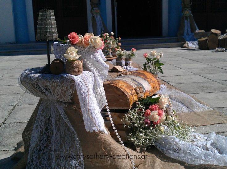 vintage wood lace  wedding