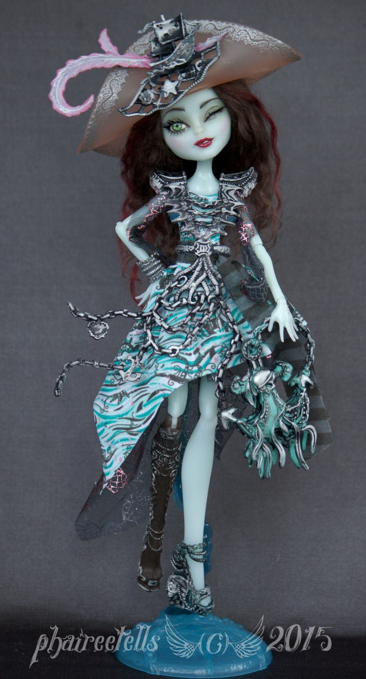 "Monster High repaint former Vandala Doubloons doll  *SOLD Commission  ""The Lady Bree"""