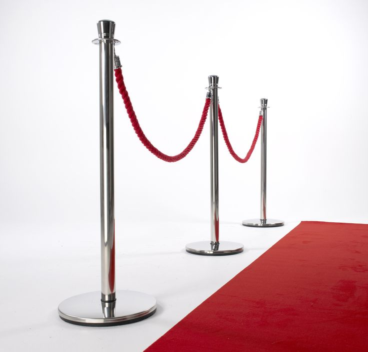 Excelsior Posts With Red Carpet And Red Ropes Available