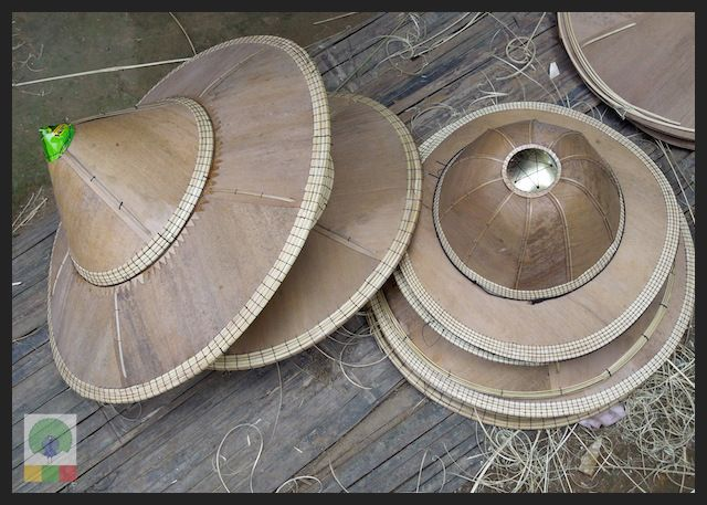 Bamboo Husk Hat Workshop Mawlamyine (Moulmein) - Myanmar (Burma) 8
