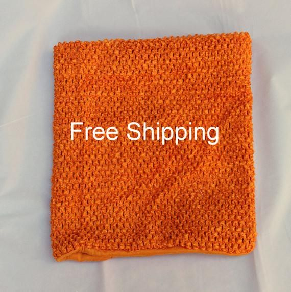 Orange crochet tutu top - $7 free shipping