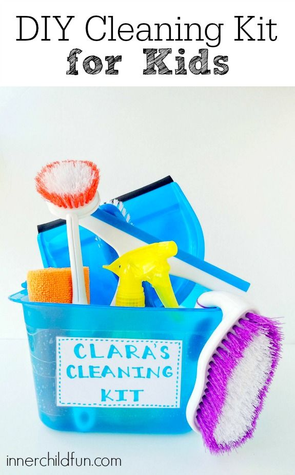 DIY Cleaning Kit for Kids - my kids would love this!