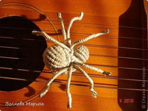 Master class Macrame: My musical spider + MK Threads.  Photo 1