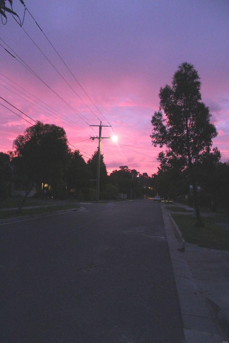 Cielo rosa y morado