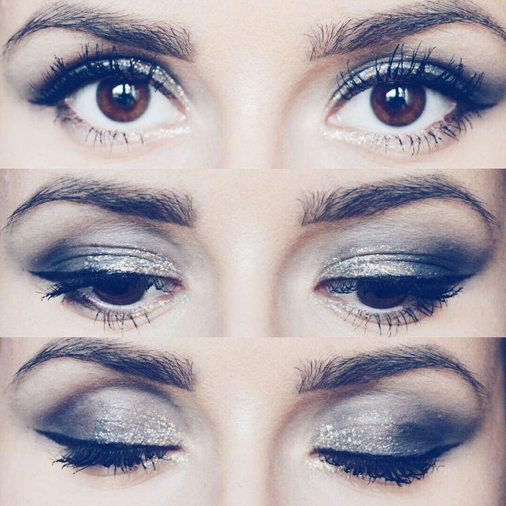 "126 aprecieri, 1 comentarii - ∆ Casandra ∆ (@casandrasy) pe Instagram: ""#eyes #makeup #style #browneyes #blue #eyesadow #glitter #products #mascara #beautiful #beauty…"""