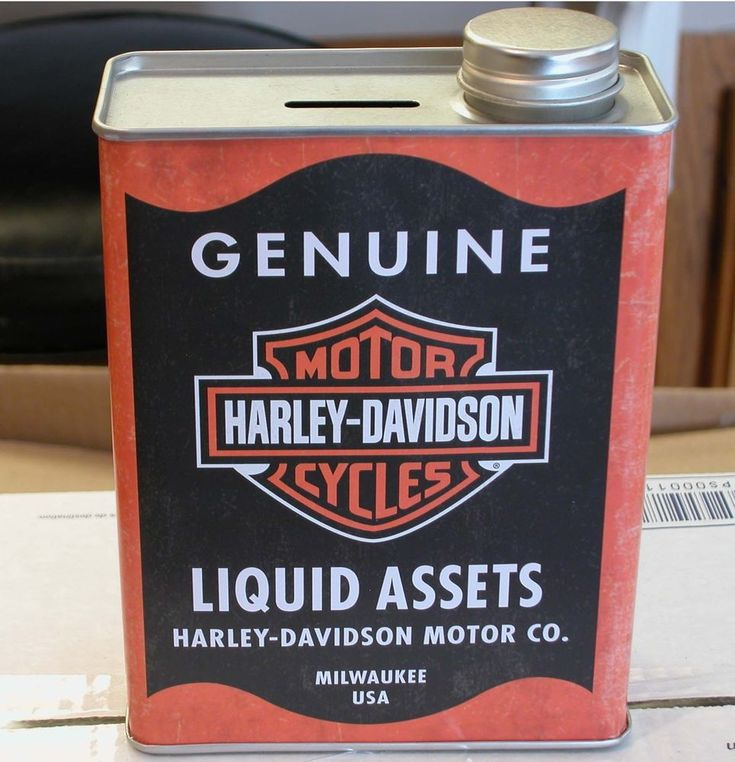 Harley Rare Bank Collectible Liquid Assets Tin Traditional Milwaukee Inspired   Collectibles, Banks, Registers & Vending, Still, Piggy Banks   eBay!