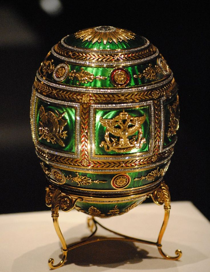 """Faberge Egg 1912 - """"Napoleonic Egg"""" Gift from Nicholas II to his mother."""