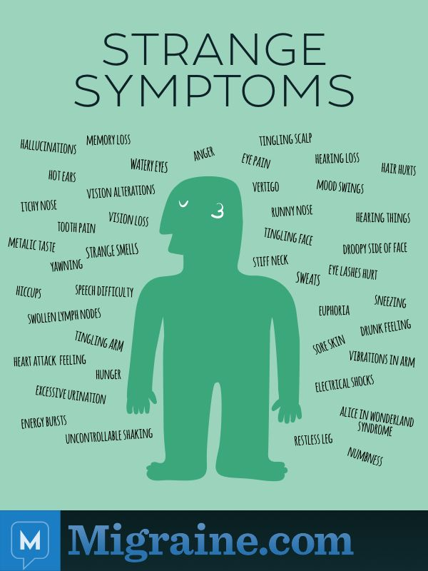 Recently, we asked our Facebook community what their strangest migraine symptom was. Here are some of the most common responses.