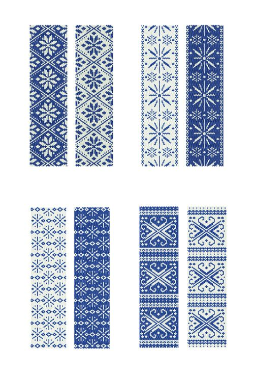 blog about handcrafted journals and jewelry: winter collection of peyote stitch patterns