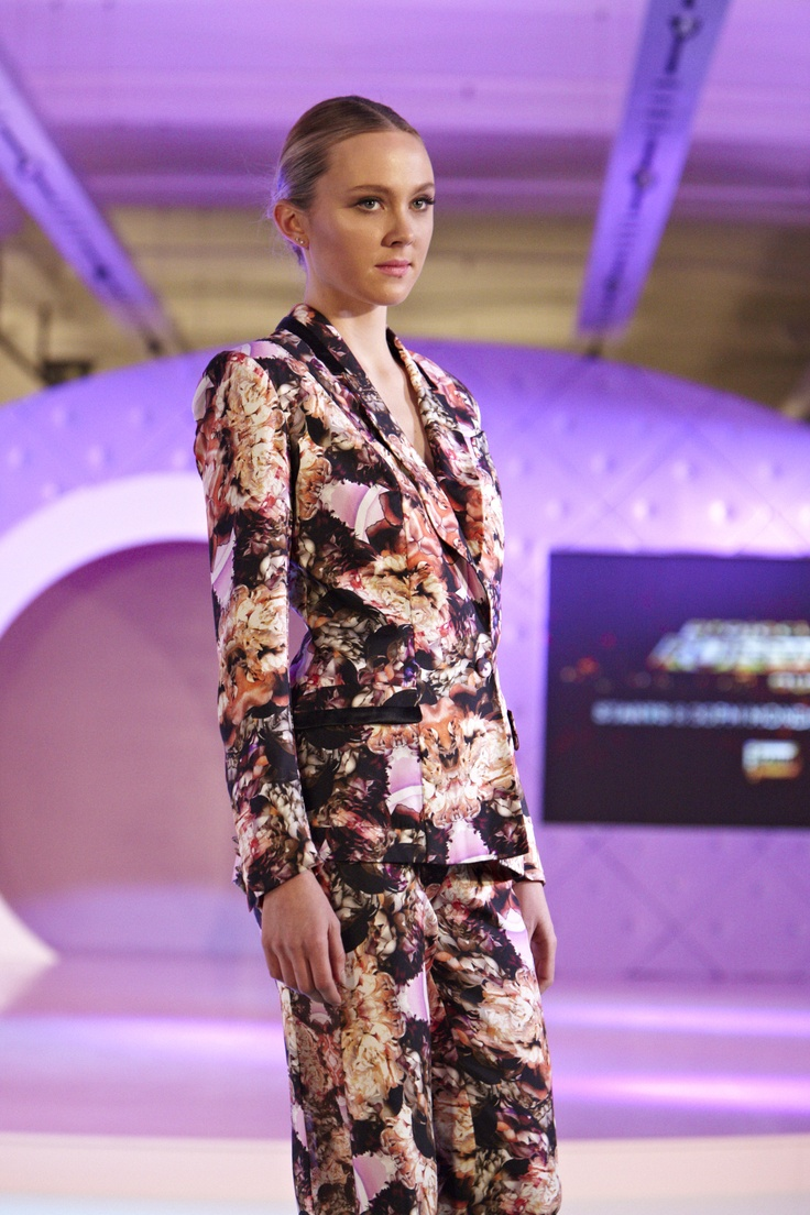 Patterned suit with Madison and Foxtel Project Runway Australia @ 30 Days of Fashion and Beauty