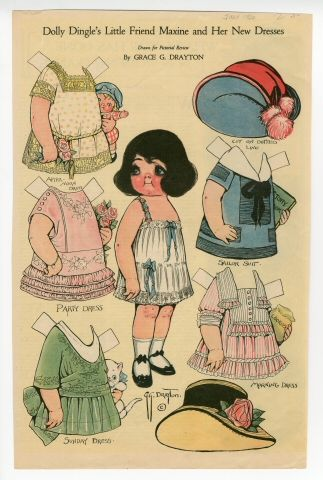 Dolly Dingle's Little Friend Maxine and her New Dresses  paper doll  1920  Artist:  Grace G. Drayton